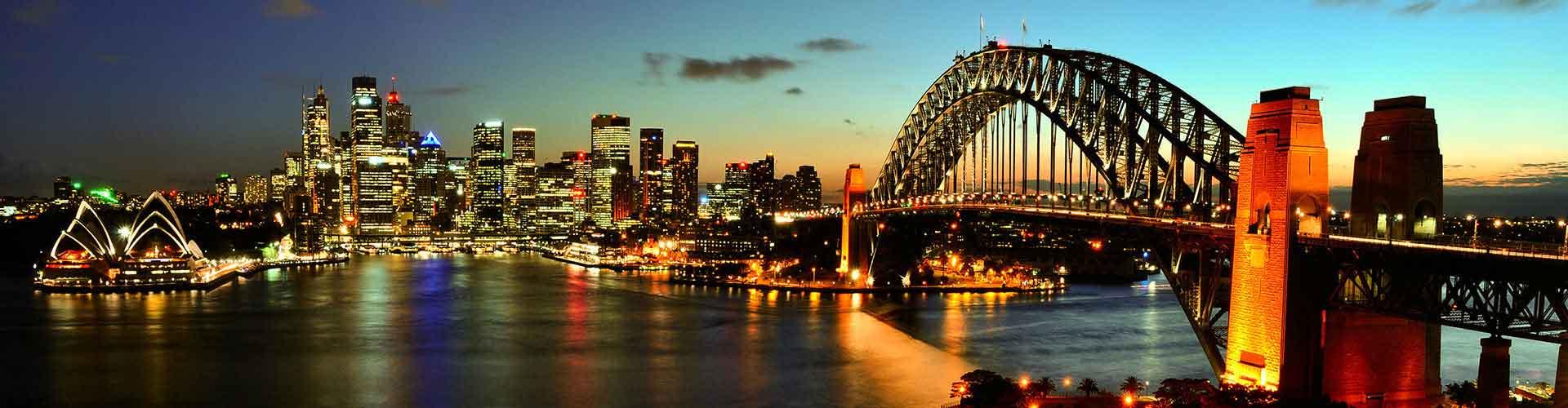Sydney - Campamentos en el distrito Woolloomooloo. Mapas de Sydney, Fotos y Comentarios para cada campamento en Sydney.