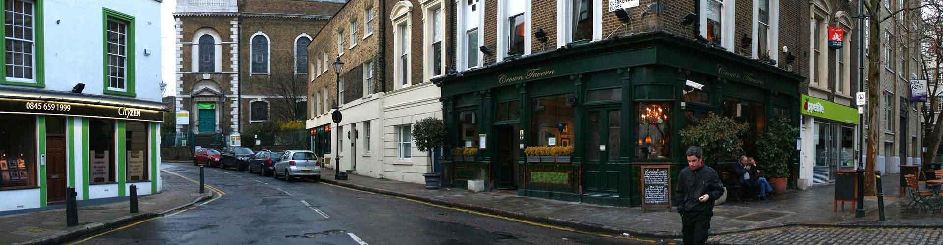 Londres - Albergues Juveniles en el distrito Clerkenwell . Mapas de Londres, Fotos y Comentarios para cada Albergue Juvenil en Londres.