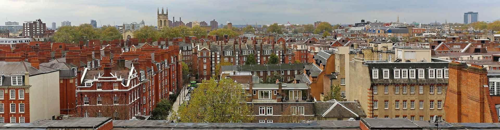 Londres - Albergues Juveniles en el distrito Sur de Kensington . Mapas de Londres, Fotos y Comentarios para cada Albergue Juvenil en Londres.