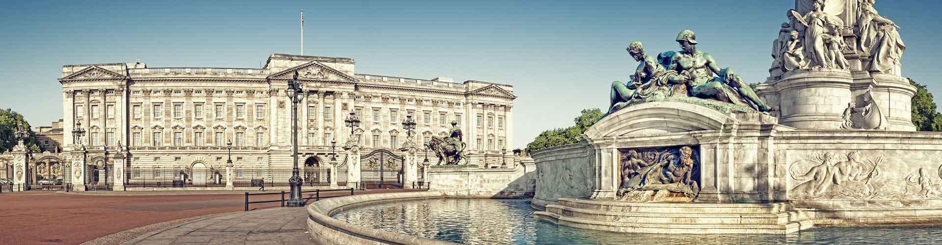 Londres - Albergues Juveniles cerca a El Palacio de Buckingham. Mapas de Londres, Fotos y Comentarios para cada Albergue Juvenil en Londres.