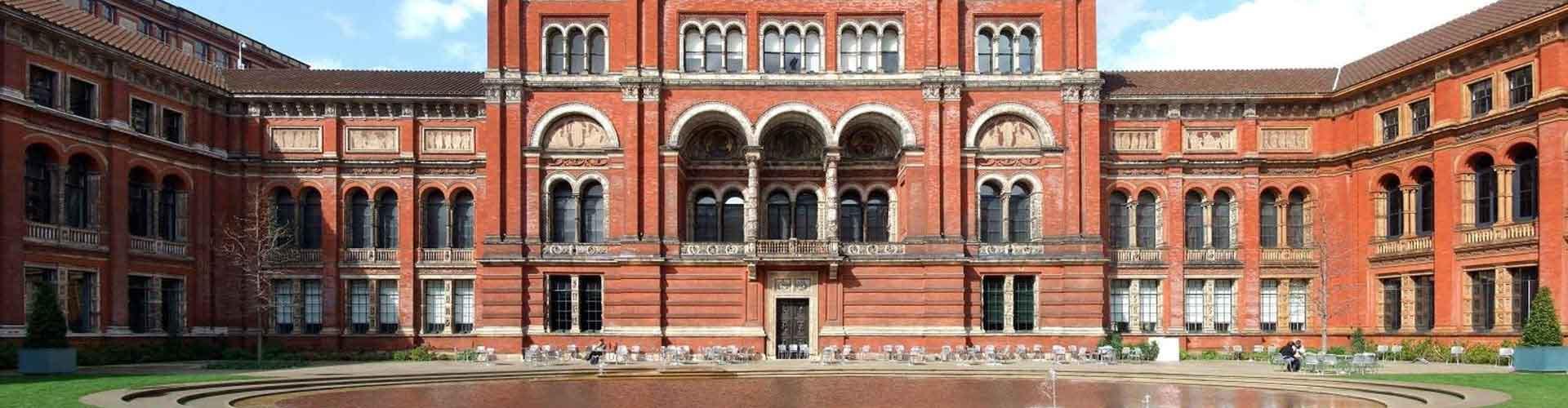 Londres - Albergues Juveniles cerca a Victoria and Albert Museum. Mapas de Londres, Fotos y Comentarios para cada Albergue Juvenil en Londres.