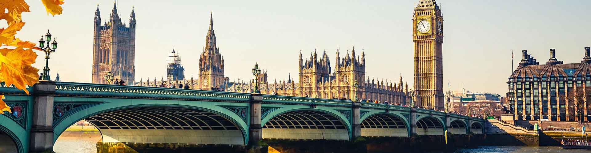 Londres - Albergues Juveniles en Londres. Mapas de Londres, Fotos y Comentarios para cada Albergue Juvenil en Londres.