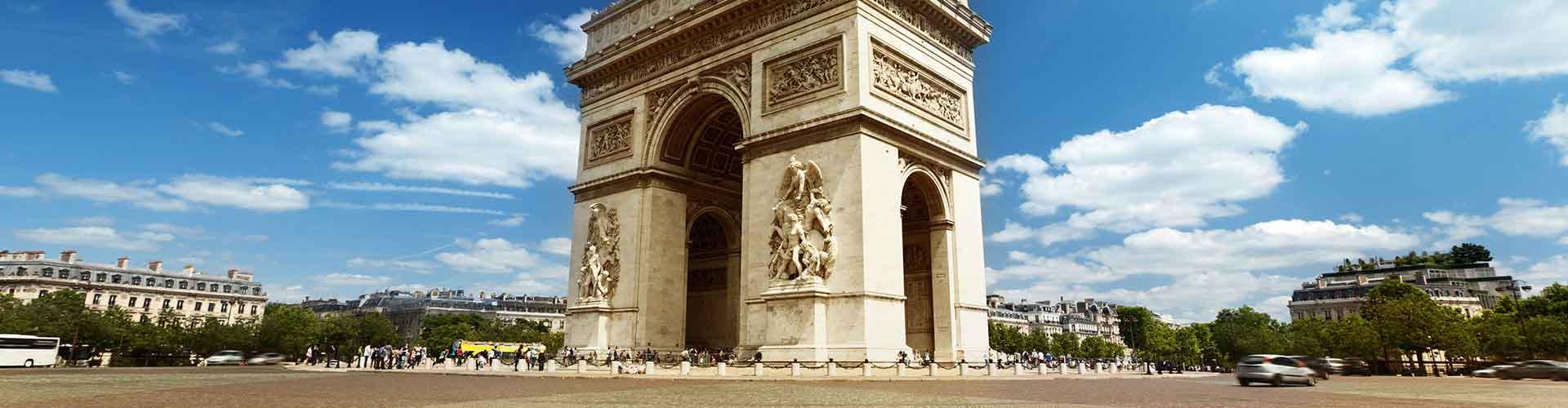 París - Albergues Juveniles cerca a Arco del Triunfo. Mapas de París, Fotos y Comentarios para cada Albergue Juvenil en París.