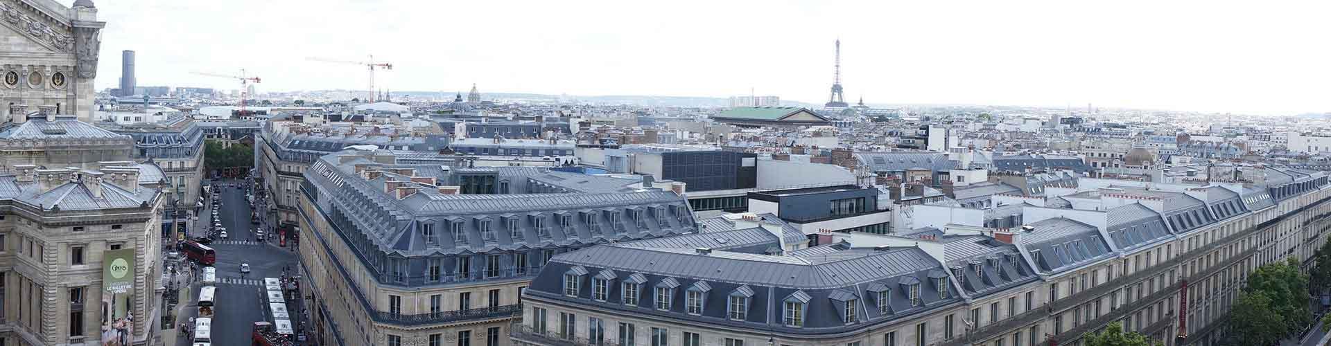París - Albergues Juveniles cerca a Galeries Lafayette. Mapas de París, Fotos y Comentarios para cada Albergue Juvenil en París.