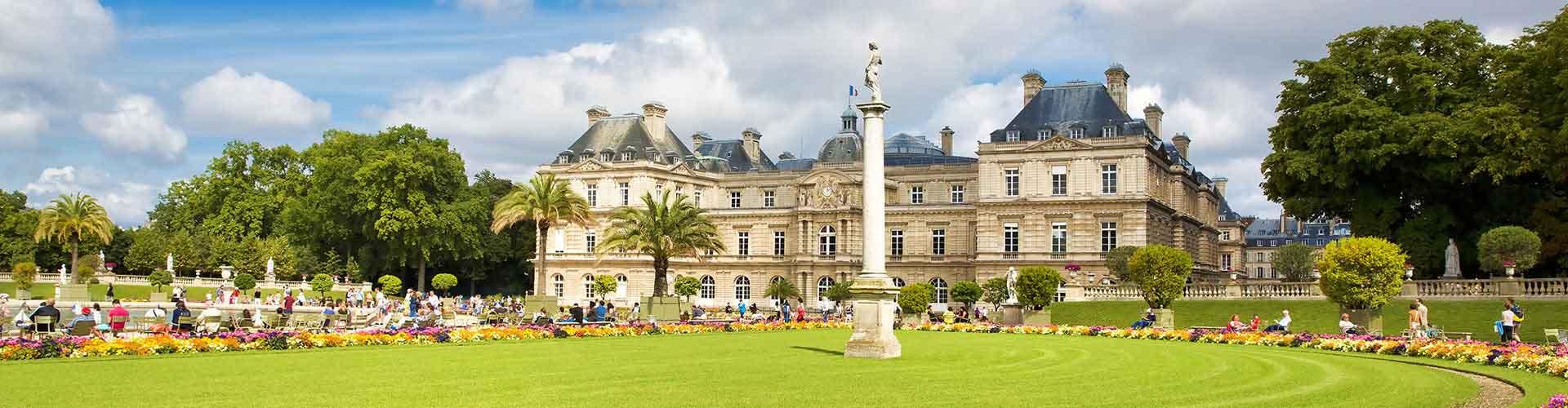 París - Albergues Juveniles cerca a Jardin de Luxembourg. Mapas de París, Fotos y Comentarios para cada Albergue Juvenil en París.