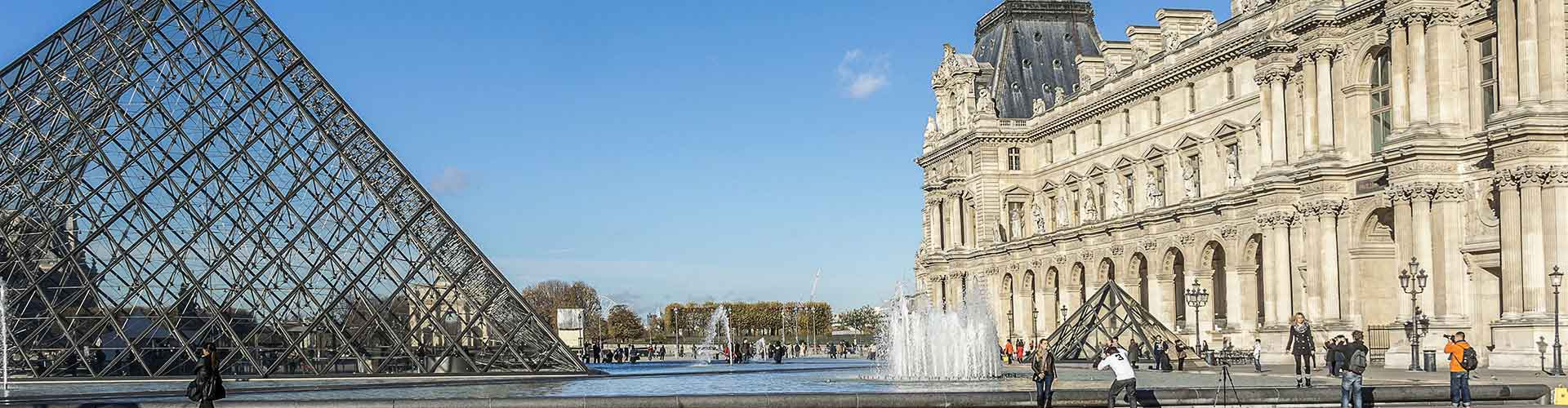París - Albergues Juveniles cerca a Louvre. Mapas de París, Fotos y Comentarios para cada Albergue Juvenil en París.