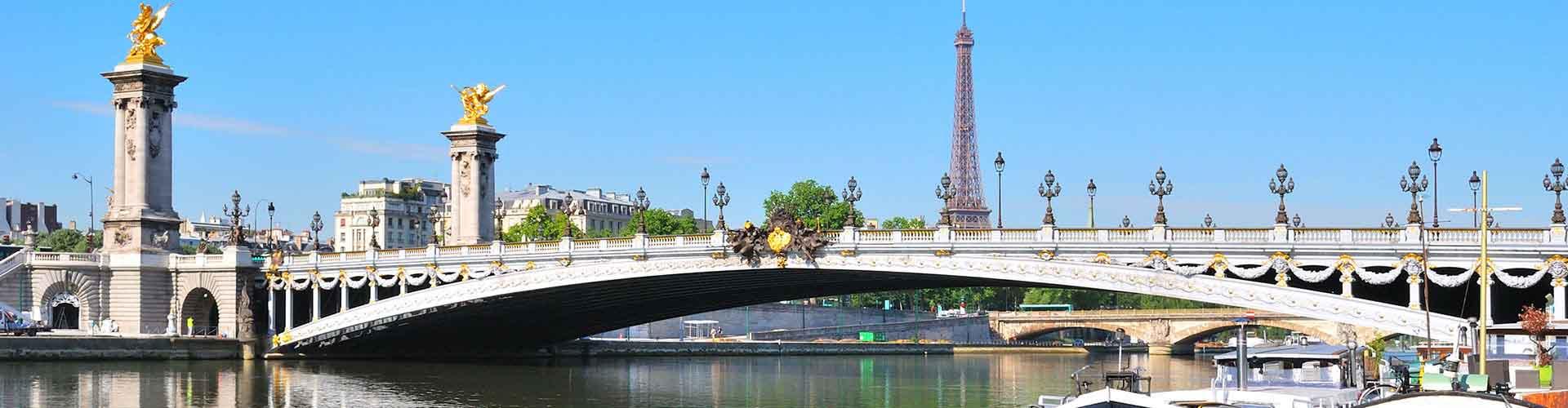 París - Albergues Juveniles cerca a Pont Alexandre III. Mapas de París, Fotos y Comentarios para cada Albergue Juvenil en París.