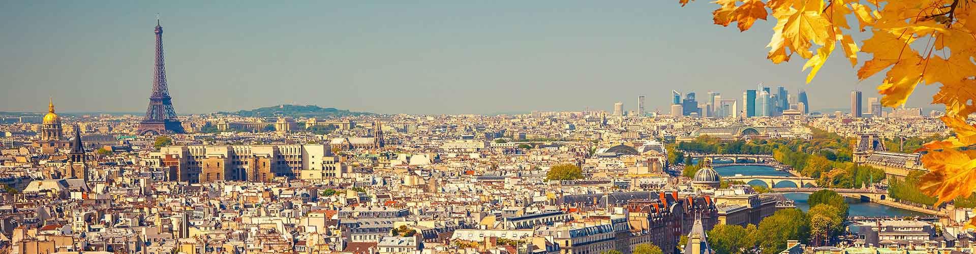 París - Albergues Juveniles cerca a Grande Arche. Mapas de París, Fotos y Comentarios para cada Albergue Juvenil en París.
