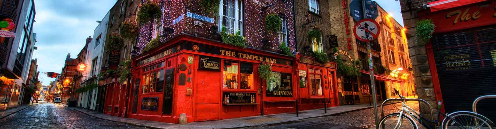 Dublín - Albergues Juveniles en el distrito Temple Bar . Mapas de Dublín, Fotos y Comentarios para cada Albergue Juvenil en Dublín.