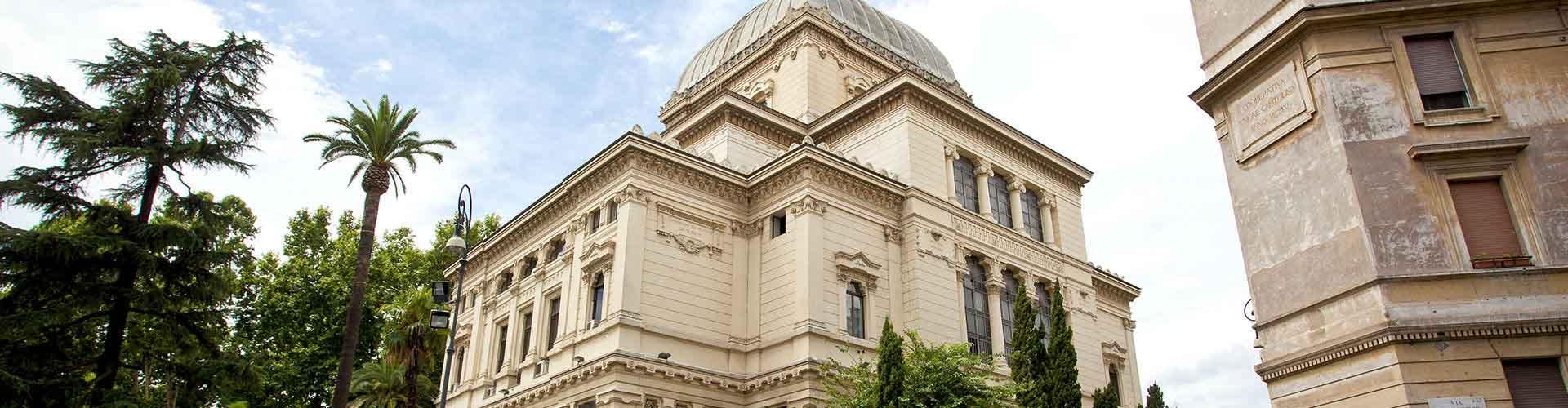 Roma - Albergues Juveniles cerca a Gran Sinagoga de Roma. Mapas de Roma, Fotos y Comentarios para cada Albergue Juvenil en Roma.