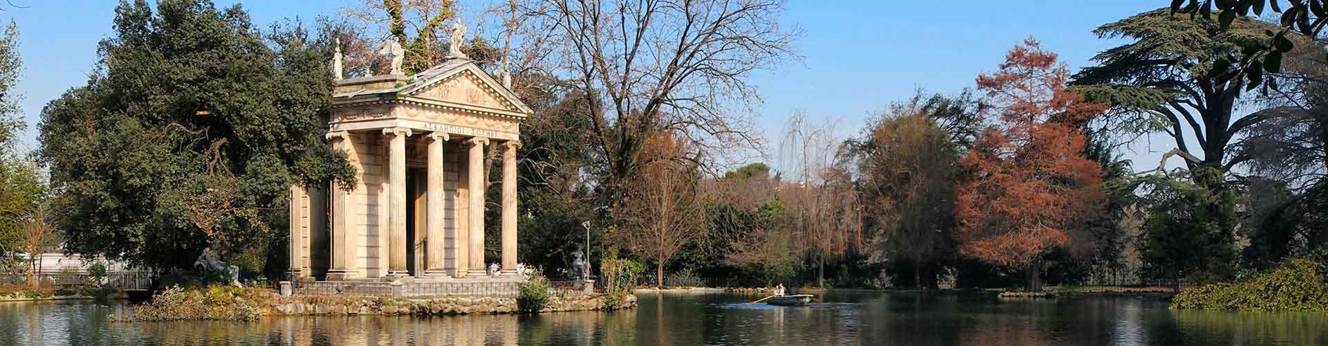 Roma - Albergues Juveniles cerca a Villa Borghese. Mapas de Roma, Fotos y Comentarios para cada Albergue Juvenil en Roma.