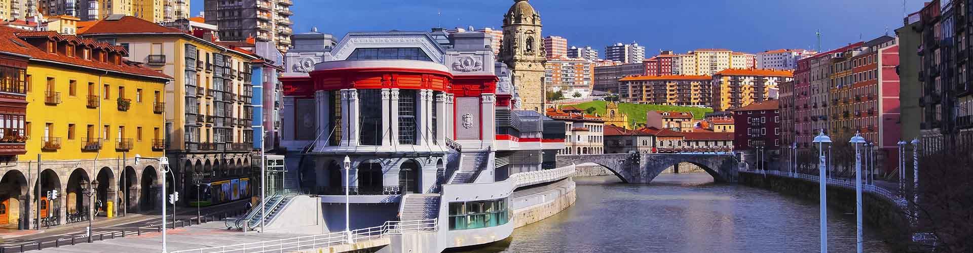 Bilbao - Albergues Juveniles cerca a Estación de tren de Bilbao-Abando. Mapas de Bilbao, Fotos y Comentarios para cada Albergue Juvenil en Bilbao.